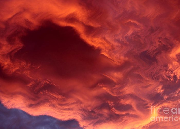 Clouds Greeting Card featuring the photograph Sky Fire by Krissy Katsimbras
