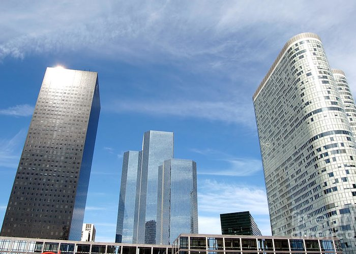 Architectural Greeting Card featuring the photograph Skyscrapers by Michal Bednarek