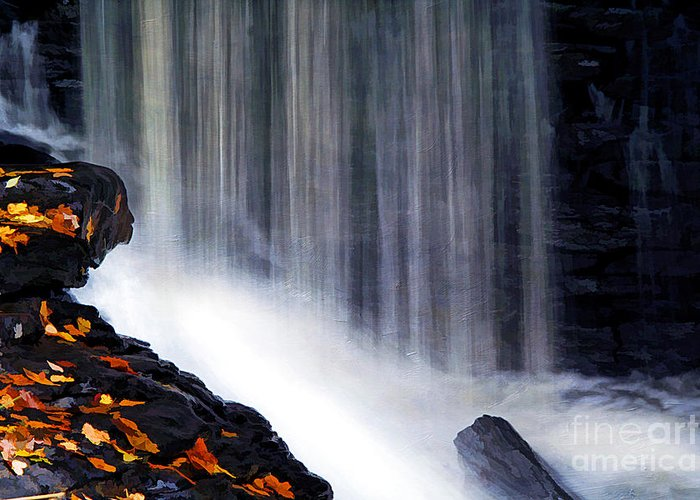 Autumn Greeting Card featuring the photograph Softly Flowing by Darren Fisher