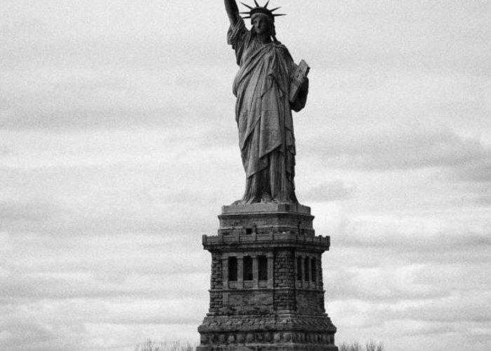 Usa Greeting Card featuring the photograph Statue Of Liberty Liberty Island New York City Usa by Joe Fox