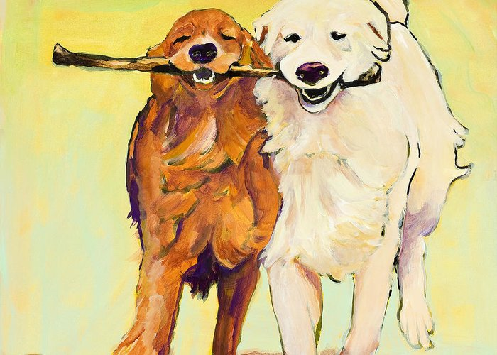 Playful Dogs Greeting Cards