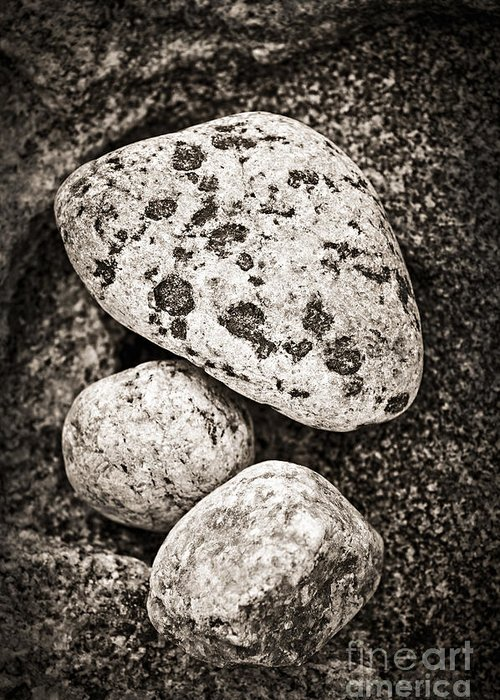 Stone Greeting Card featuring the photograph Stones by Elena Elisseeva
