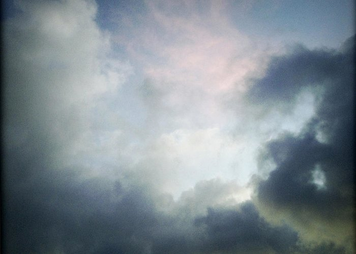 Clouds Greeting Card featuring the photograph Storm Clouds by Les Cunliffe