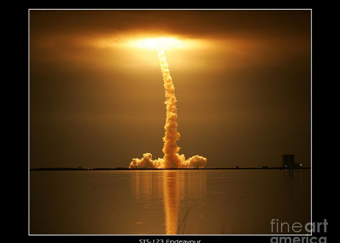 Endeavour Launch Greeting Card featuring the photograph Sts-123 Endeavour by Jeffrey Wills