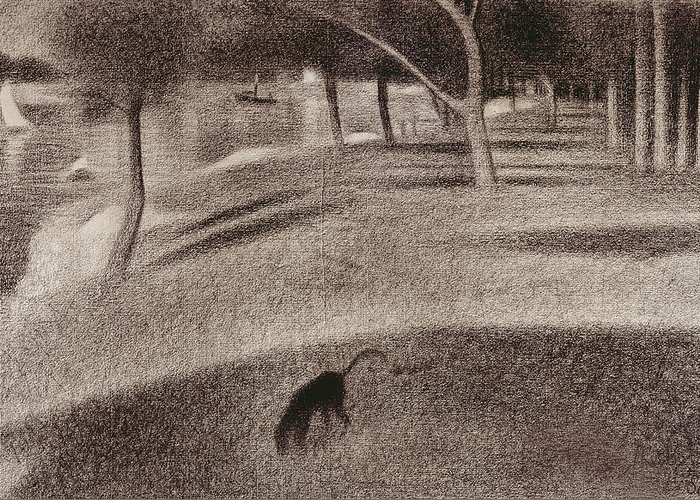 Study For Sunday Afternoon On The Island Of La Grande Jatte Greeting Card For Sale By Georges Pierre Seurat