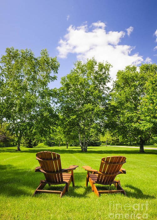Chairs Greeting Card featuring the photograph Summer Relaxing by Elena Elisseeva