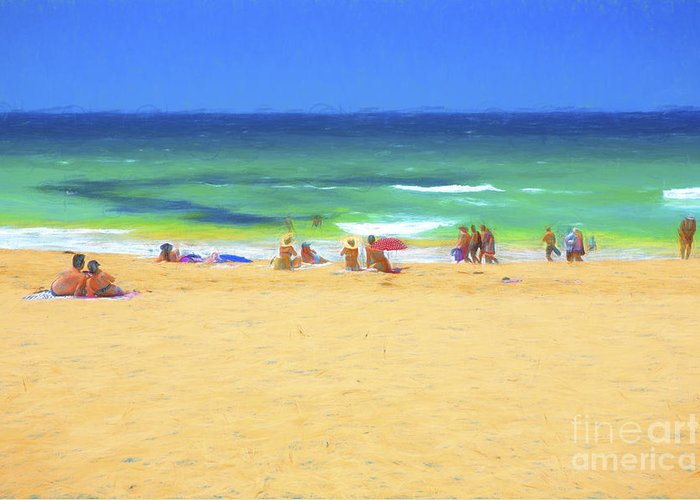 Whale Beach Greeting Card featuring the photograph Summertime by Sheila Smart Fine Art Photography