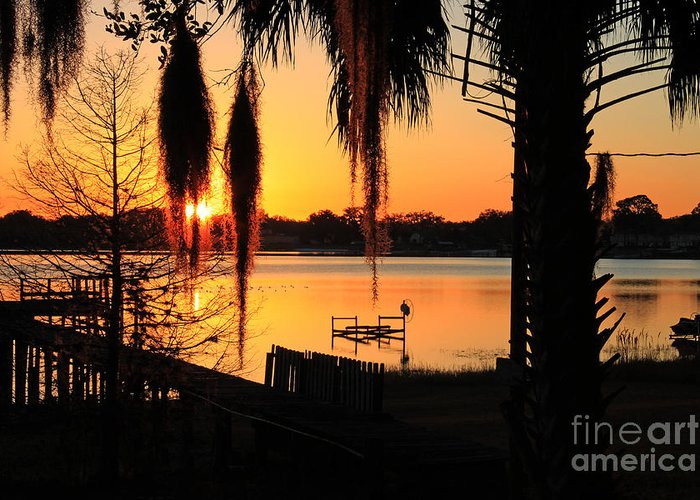 Sunrise Greeting Card featuring the photograph Sunrise On Lake Weir - 4 by Tom Doud