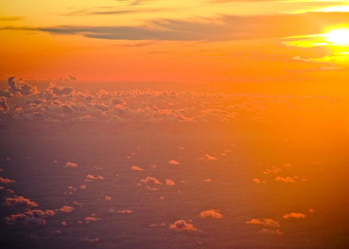 Sunrise Greeting Card featuring the photograph Sunset In The Sky by Raimond Klavins