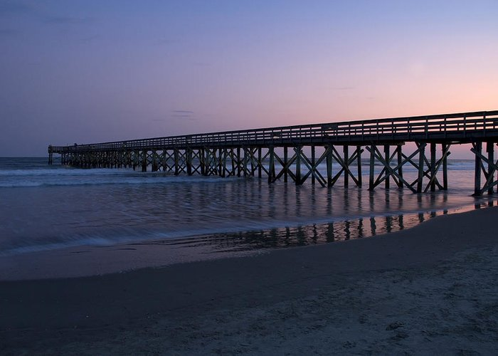 Pier Greeting Card featuring the photograph Sunset Pier by Jessica Wakefield