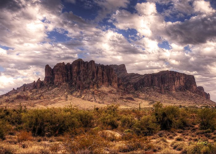 Desert Greeting Card featuring the photograph Supes-6 by George Lenz