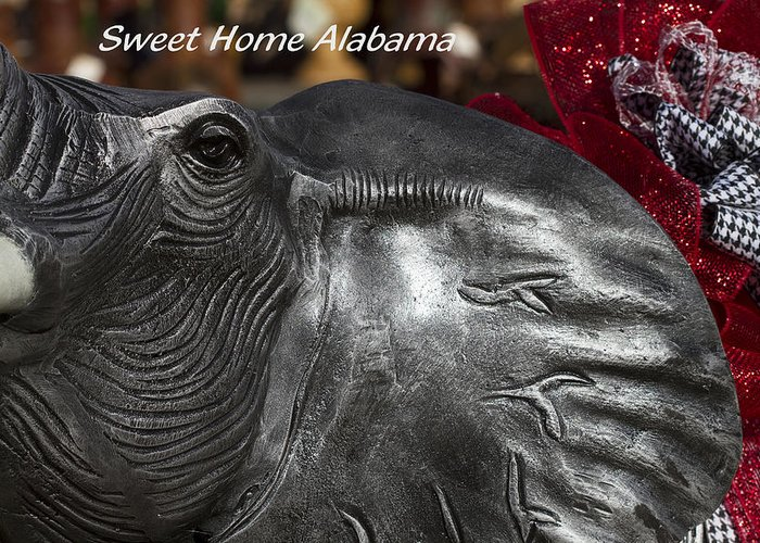 Alabama Football Greeting Card featuring the photograph Sweet Home Alabama by Kathy Clark