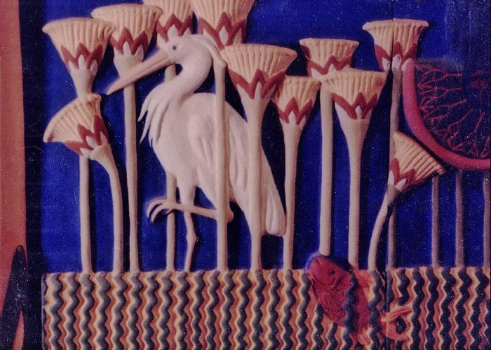 Ceramic Greeting Card featuring the ceramic art The Apparition Detail by Charles Lucas