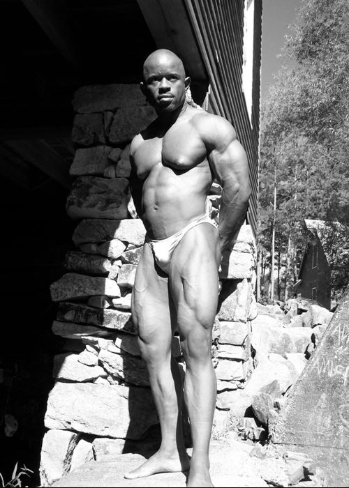 Sepia Photography Greeting Card featuring the photograph The Bodybuilder by Jake Hartz