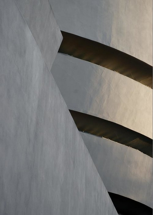 Scenic Greeting Card featuring the photograph The Guggenheim by Rob Hans