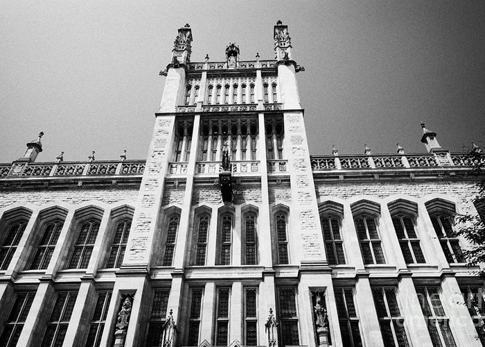 Maughan Greeting Card featuring the photograph the maughan library kings college london London England UK by Joe Fox