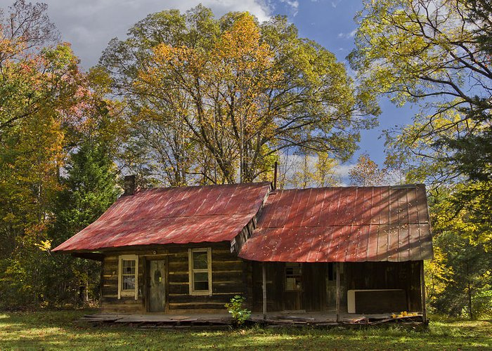 Appalachia Greeting Card featuring the photograph The Old Homestead by Debra and Dave Vanderlaan
