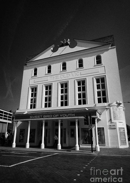 Old Greeting Card featuring the photograph the old vic theatre London England UK by Joe Fox