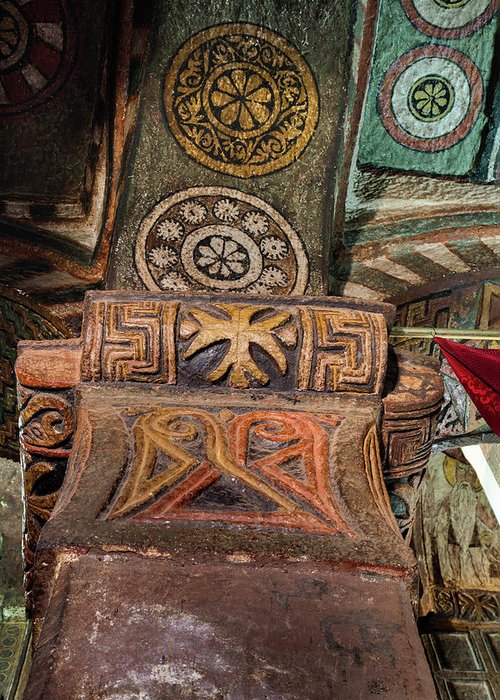 Abyssinia Greeting Card featuring the photograph The Rock-hewn Churches Of Lalibela by Martin Zwick