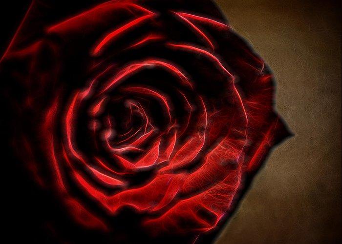 Rose Greeting Card featuring the digital art The Rose Digital Art by Ernie Echols