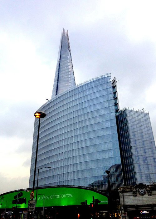 Shard Greeting Card featuring the photograph The Shard And London Bridge Station by Gordon James