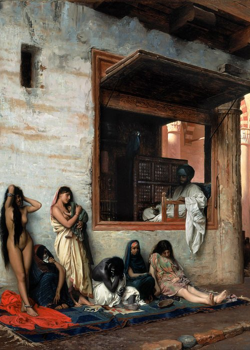 The Slave Market Greeting Cards