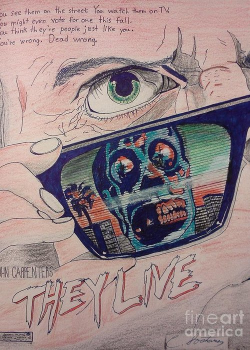 They Live Greeting Card featuring the mixed media They Live by Christopher Soeters