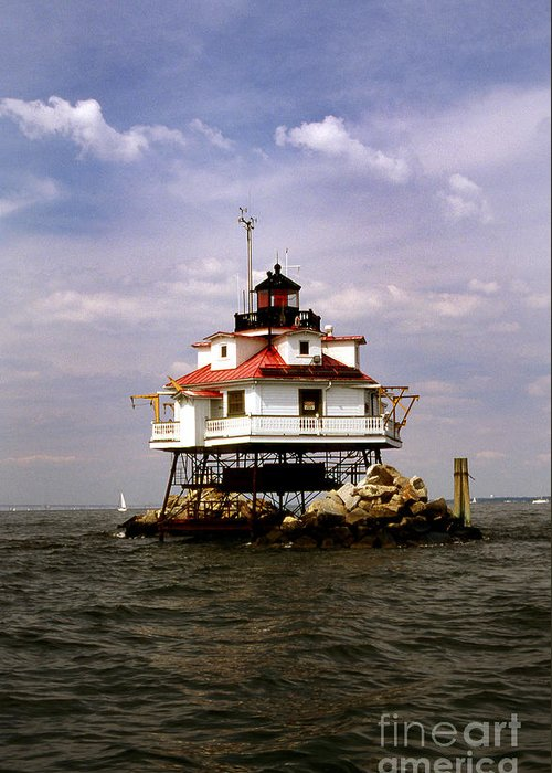 Lighthouses Greeting Card featuring the photograph Thomas Point Shoal Lighthouse by Skip Willits