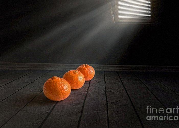 Fruit And Mandarin Greeting Cards