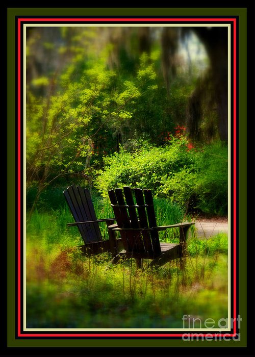 Chairs Greeting Card featuring the photograph Time For Coffee by Susanne Van Hulst