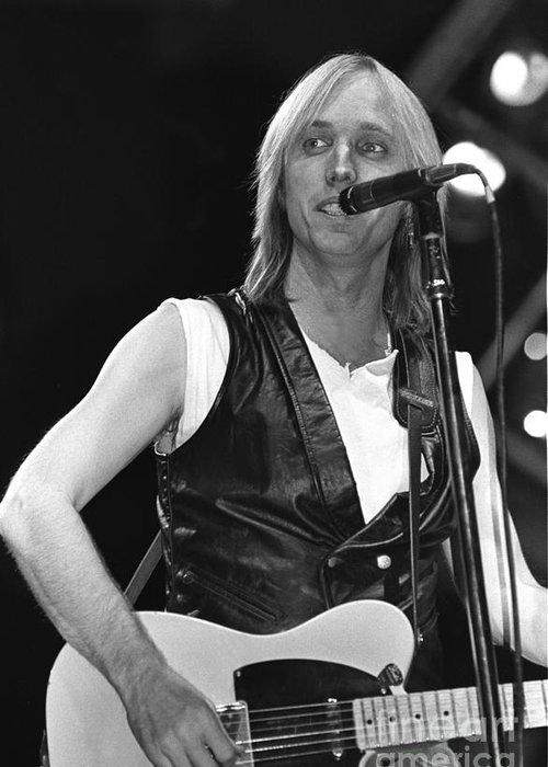 Singer Greeting Card featuring the photograph Tom Petty And The Heartbreakers by Concert Photos