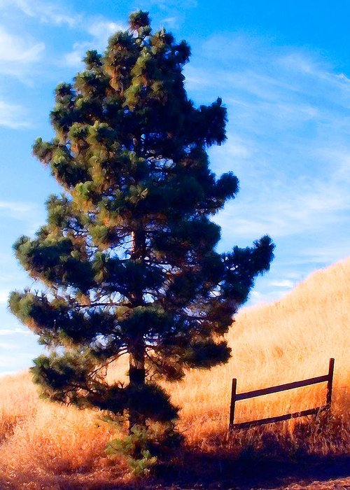 Tree Greeting Card featuring the photograph Tower Of Strength by Ron Regalado