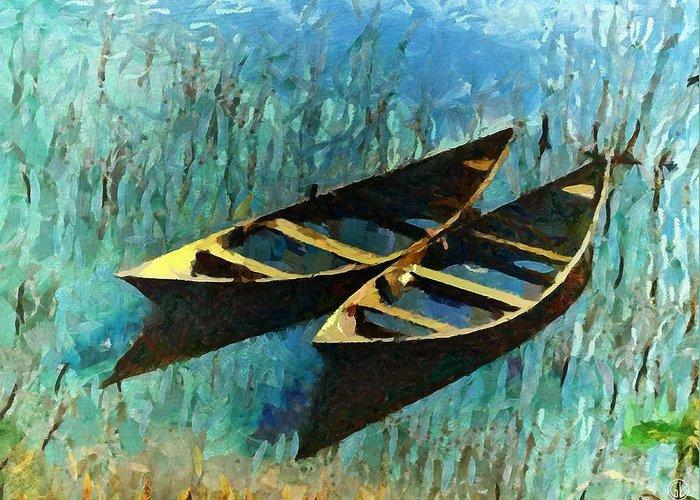 Sea Greeting Card featuring the digital art Twins by Gun Legler