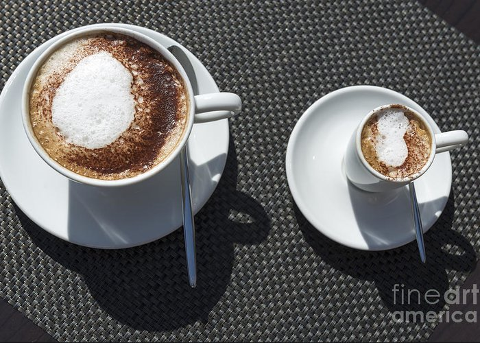 Cup Of Coffee Greeting Card featuring the photograph Two Cups Of Coffee by Mats Silvan