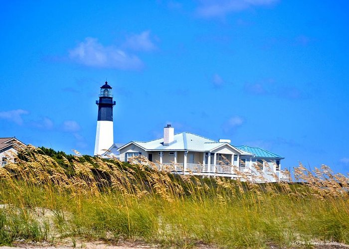 Tybee Lighthouse Greeting Card featuring the photograph Tybee Lighthouse by Tara Potts