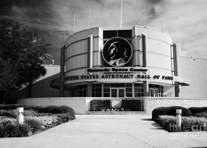 Kennedy Greeting Card featuring the photograph united states astronaut hall of fame Kennedy Space Center Florida USA by Joe Fox