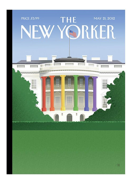 President Greeting Card featuring the painting Spectrum Of Light by Bob Staake