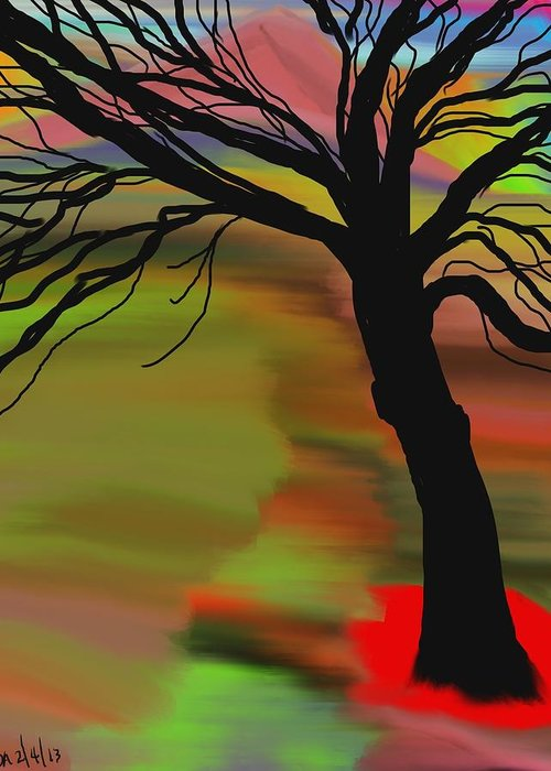 Abstract Greeting Card featuring the digital art Untitled by Don Ackley