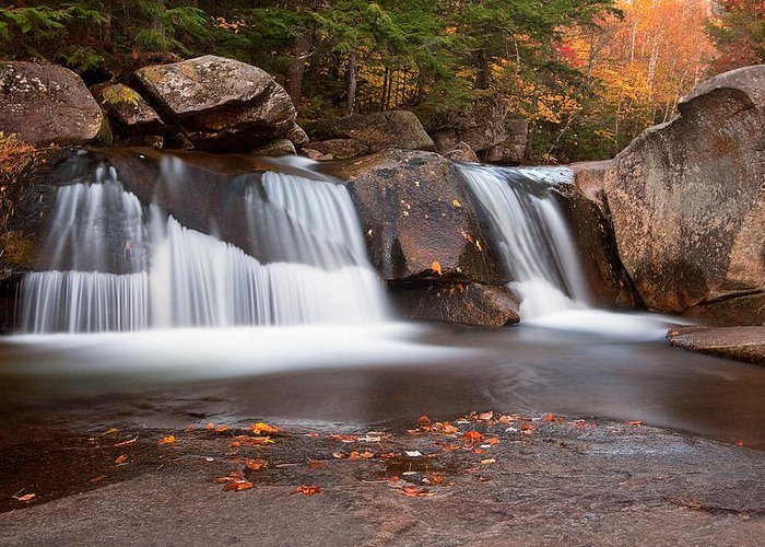 Maine Greeting Card featuring the photograph Upper Screw Auger Falls by Patrick Downey
