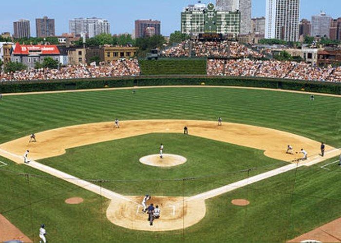 Usa Illinois Chicago Cubs Baseball Greeting Card