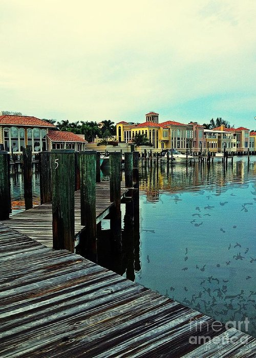Southwest Florida Greeting Card featuring the photograph View From The Boardwalk by K Simmons Luna