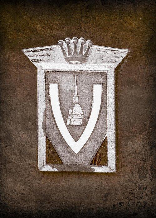 Vignale Emblem Greeting Card featuring the photograph Vignale Emblem by Jill Reger