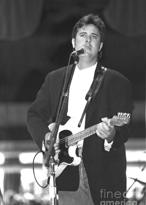 Country Greeting Card featuring the photograph Vince Gill by Concert Photos