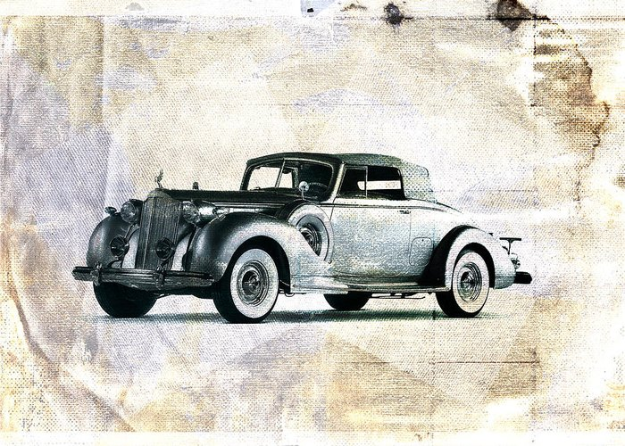 Car Greeting Card featuring the digital art Vintage Car by David Ridley