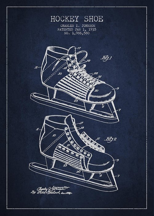 Antique Skates Digital Art Greeting Cards