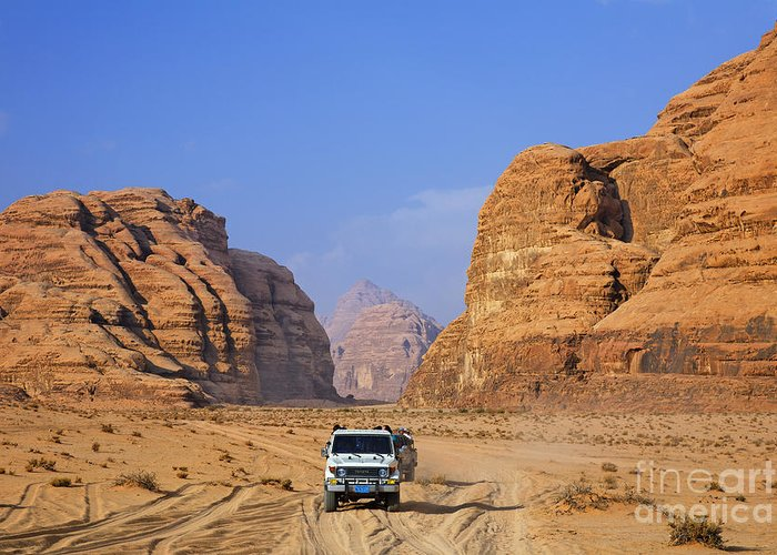 Wadi Rum Greeting Card featuring the photograph Wadi Rum In Jordan by Robert Preston