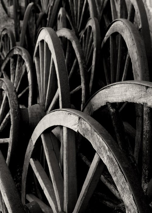 Wagon Wheels Greeting Card featuring the photograph Wagon Wheels by John Nelson