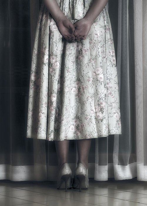 Girl Greeting Card featuring the photograph Waiting by Joana Kruse