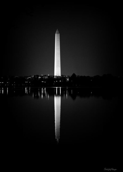 american History Greeting Card featuring the photograph Washington Monument by Sanjay Nayar