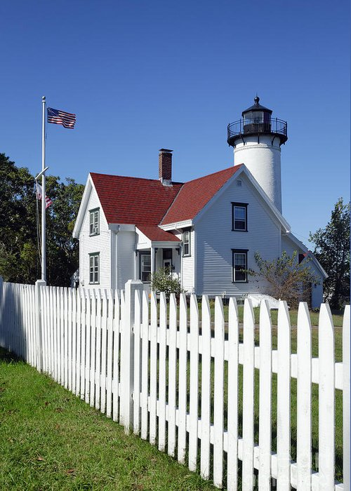 Keepers House Greeting Card featuring the photograph West Chop Lighthouse by John Greim